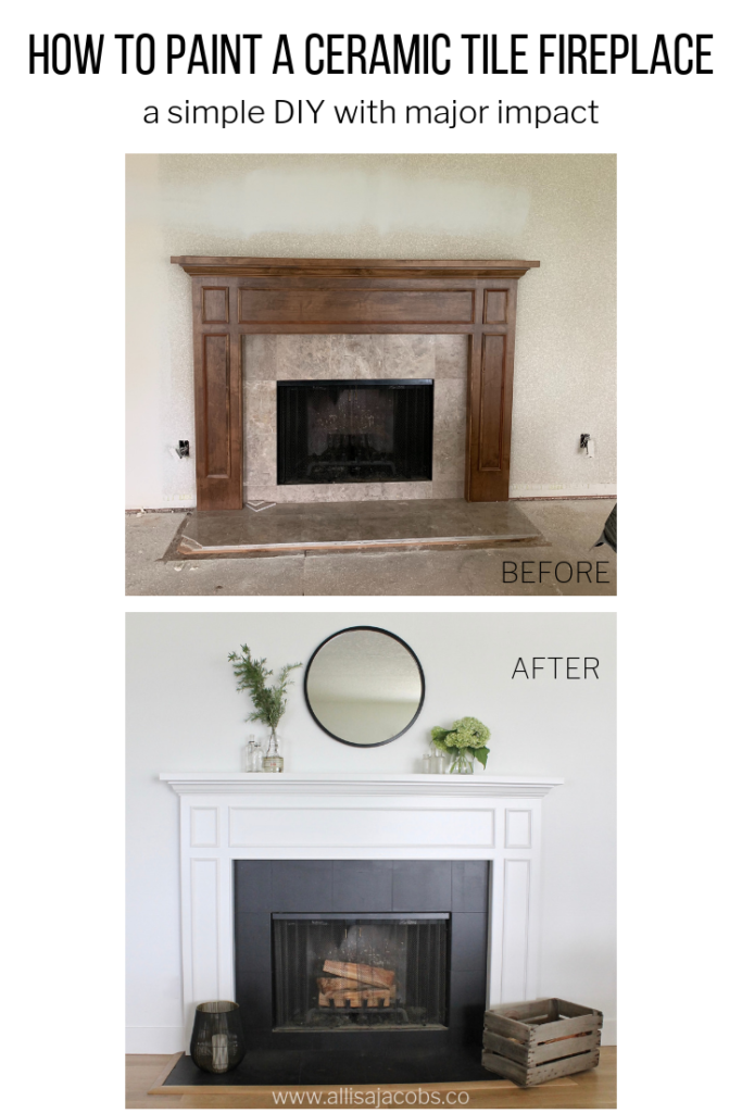Pleasing How To Paint A Ceramic Tile Fireplace For An Easy Update Download Free Architecture Designs Ferenbritishbridgeorg