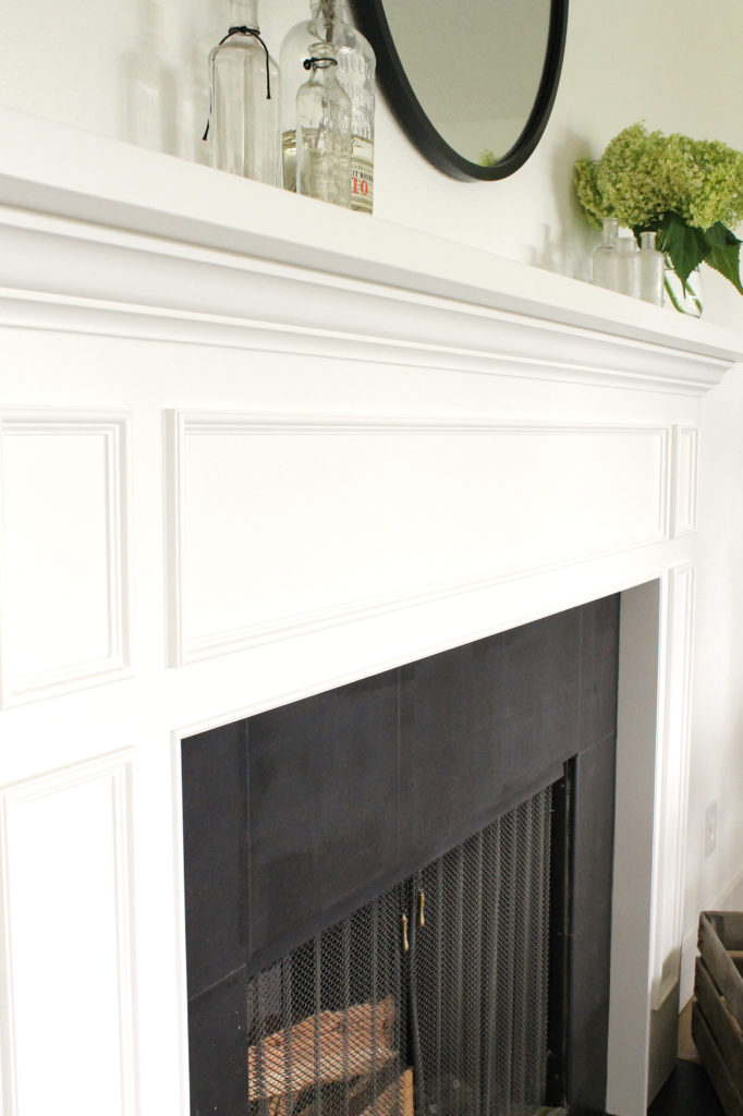 How To Paint A Ceramic Tile Fireplace, Can You Paint A Tile Fireplace Surround