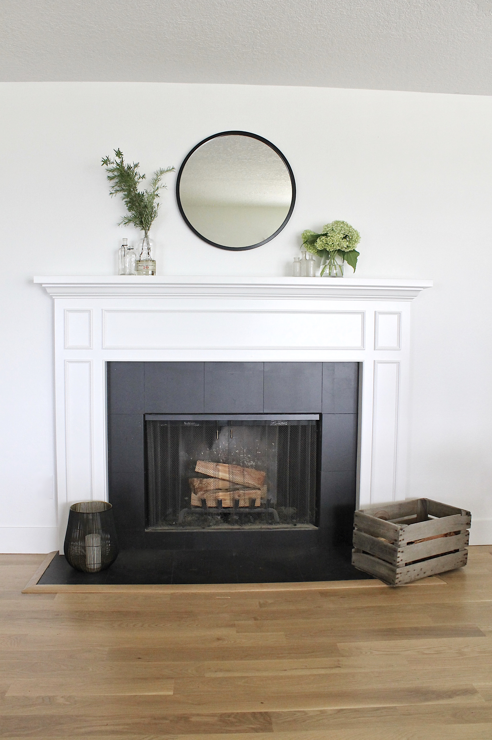 How To Paint A Ceramic Tile Fireplace For An Easy Update Allisa Jacobs