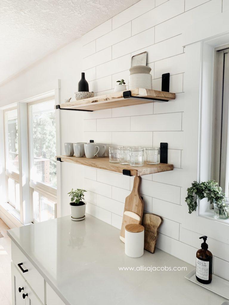 How to Make Open Shelving - A DIY Wood Shelf Tutorial ...
