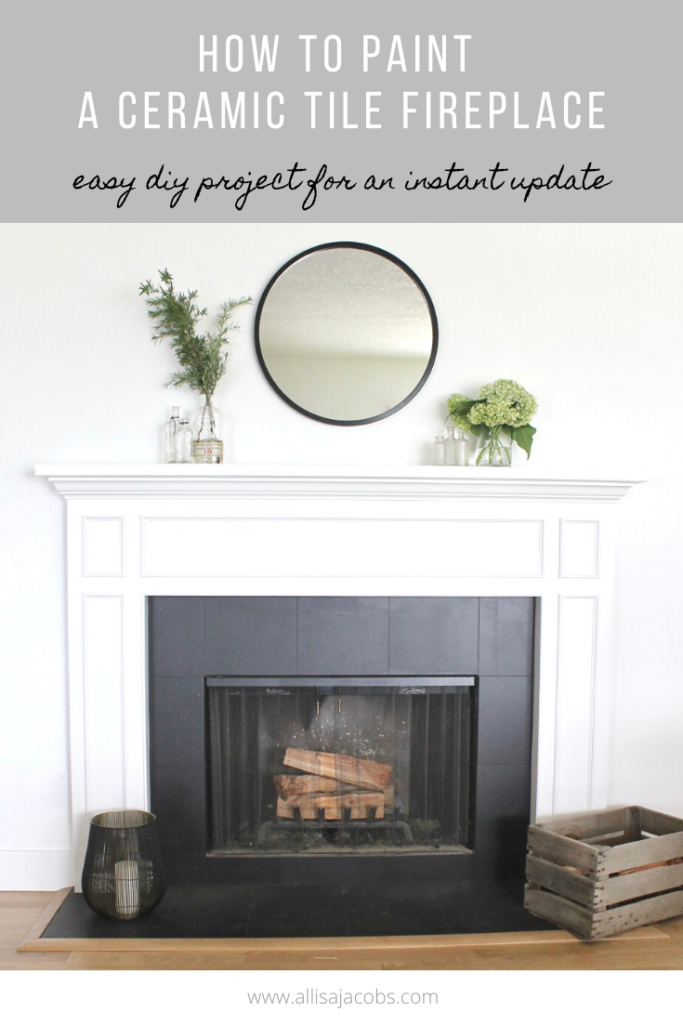 How To Paint A Ceramic Tile Fireplace For An Easy Update Allisa