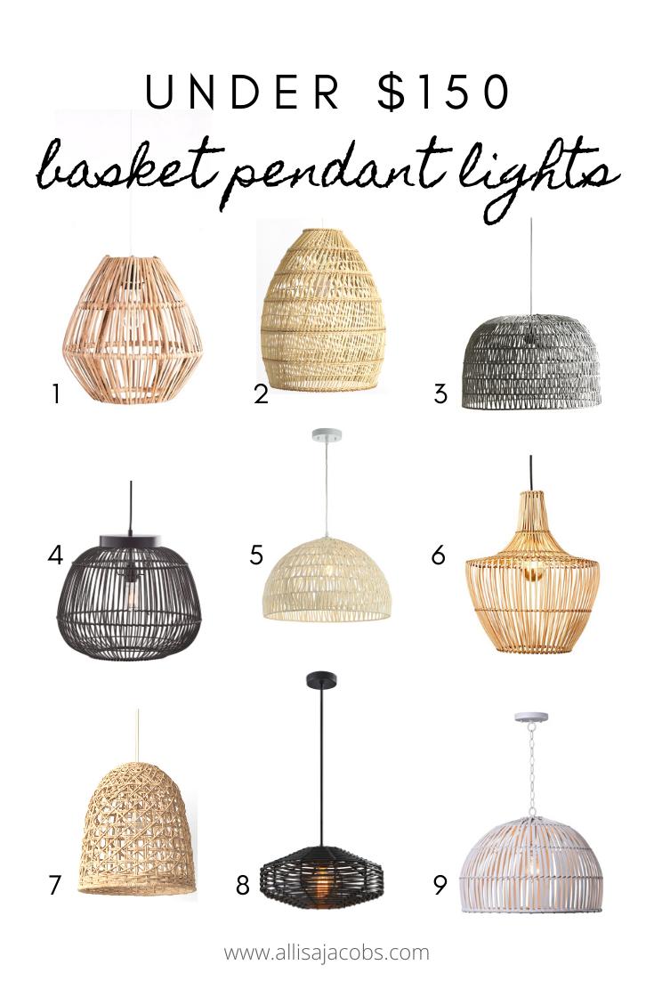 9 Basket Pendant Lights Under 150 Allisa Jacobs