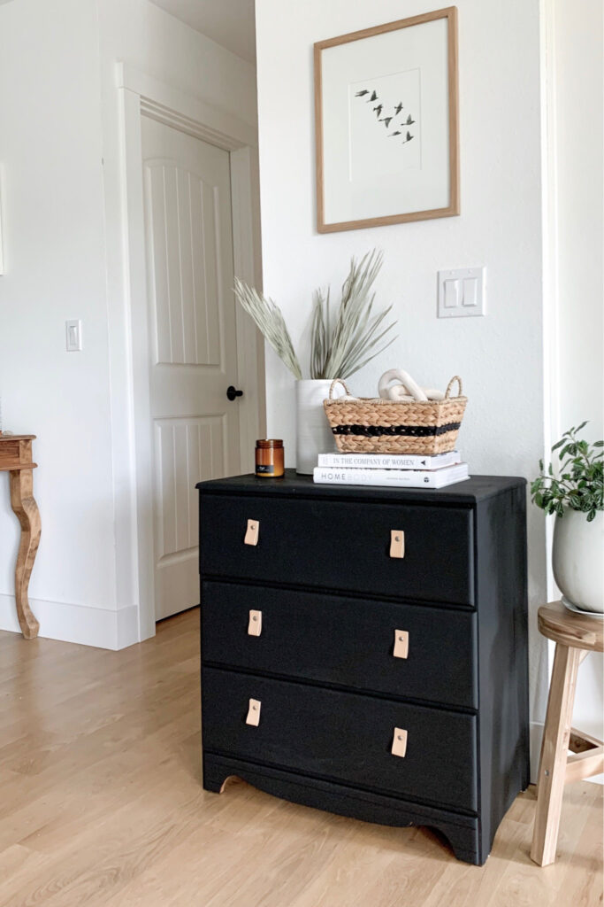 How To Make Leather Pulls Easy Dresser Makeover Allisa Jacobs